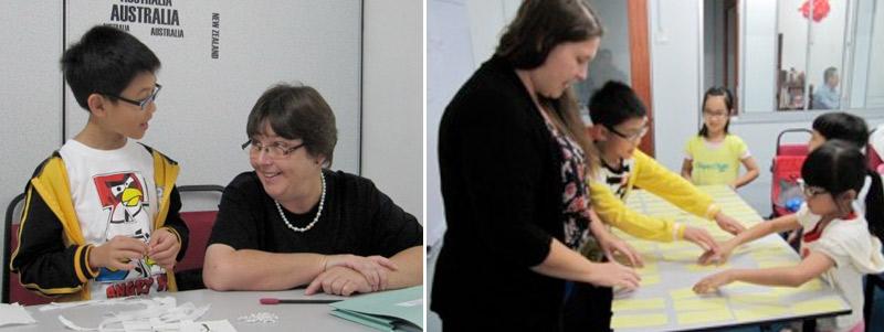 Diane and Liz teaching